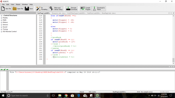 RobotC for VEX IQ