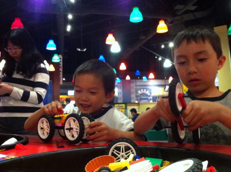 making cars at lego land canada